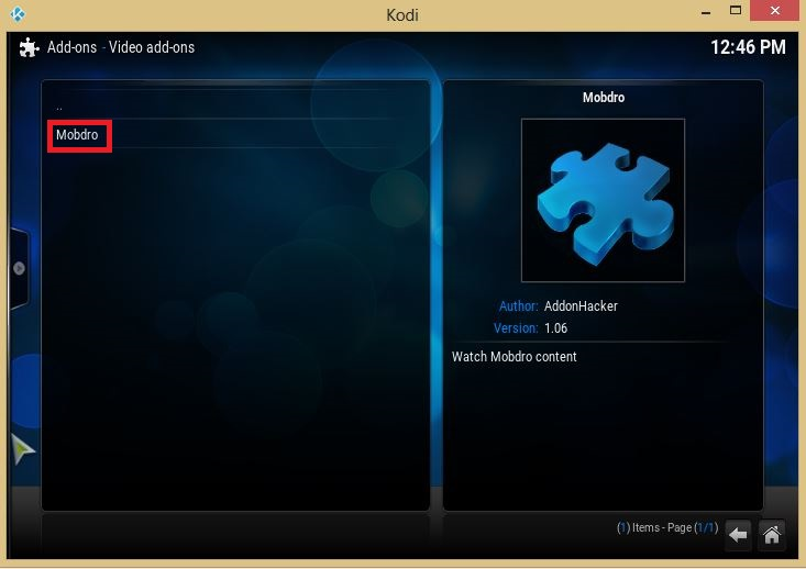 mobdro for kodi