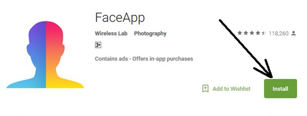 Download and Install FaceApp in PC