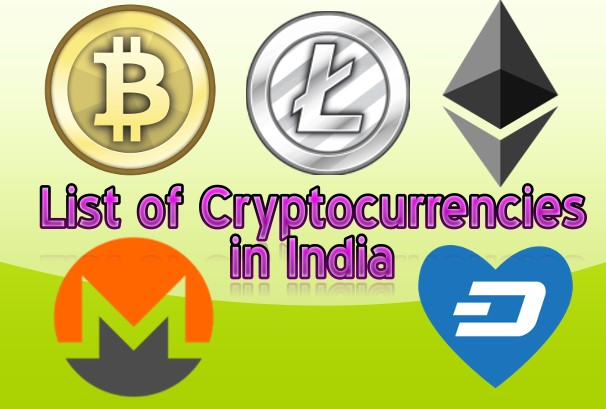 List of Cryptocurrencies in India