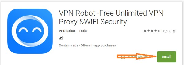 Robot VPN for PC